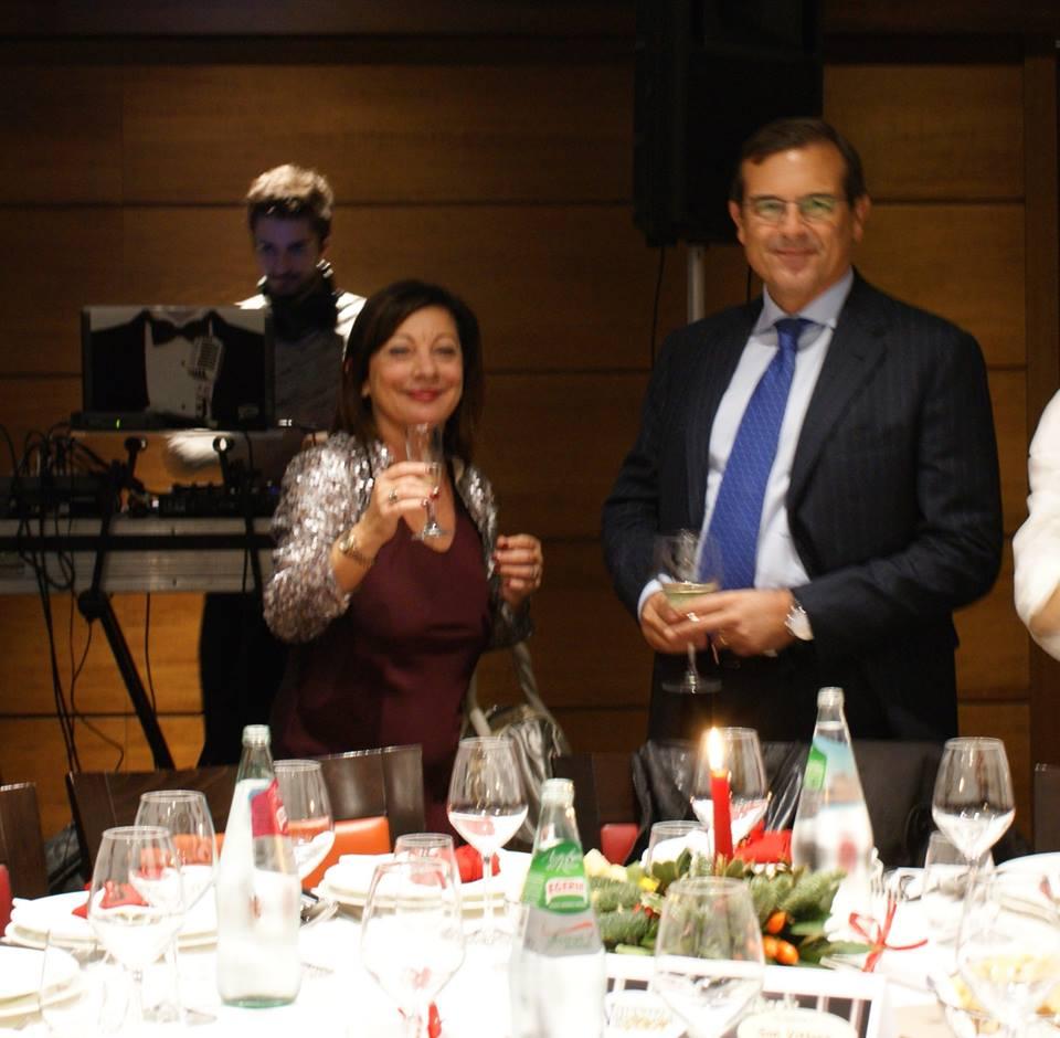 La Dott. Clotilde Spadafora, moglie dell'avv. Romolo Reboa con l'avv. Massimo Mannocchi