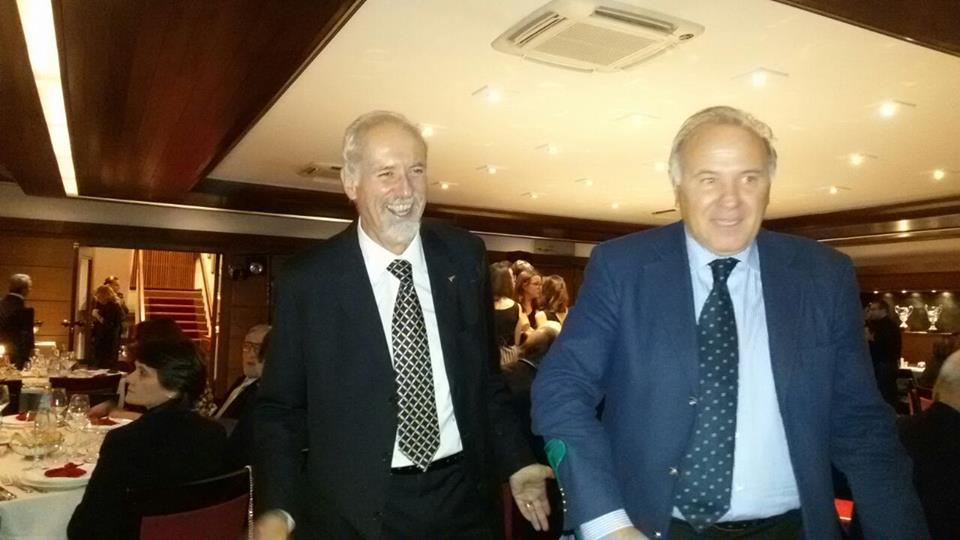L'avv. Romolo Reboa con il Dott. Mancini nel corso della serata