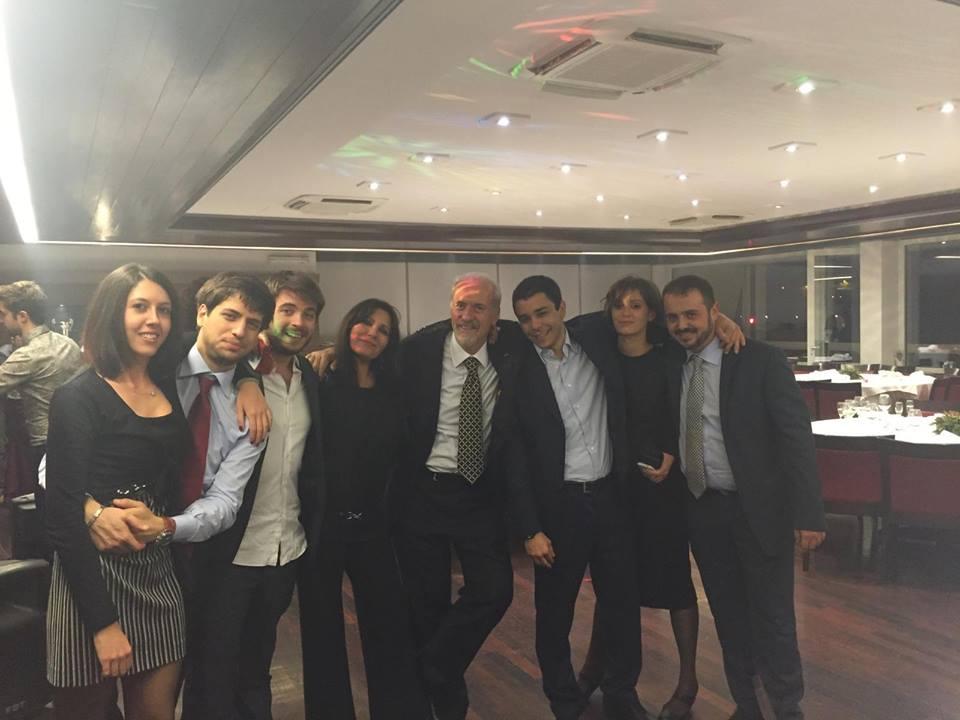 L'avv. Romolo Reboa con Massimo Reboa e lo staff dello studio legale Reboa