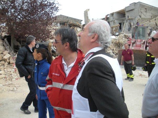 L'avv. Romolo Reboa con il presidente della CRoce Rossa Internazionale Dott. Rocca
