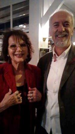 L'avv. Romolo Reboa con l'attrice Claudia Cardinale