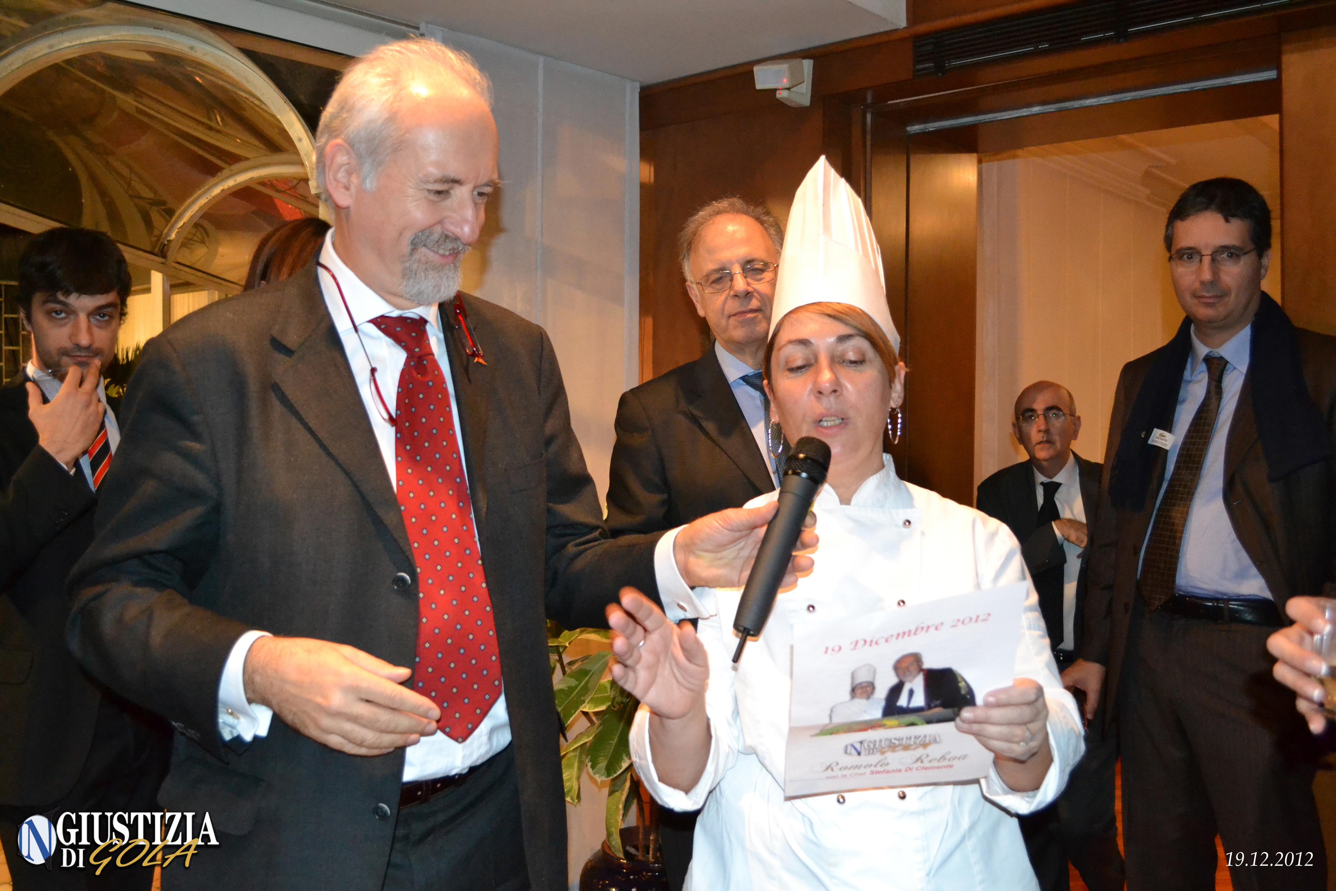 L'avv. Romolo Reboa con la chef Stefania Di Clemente