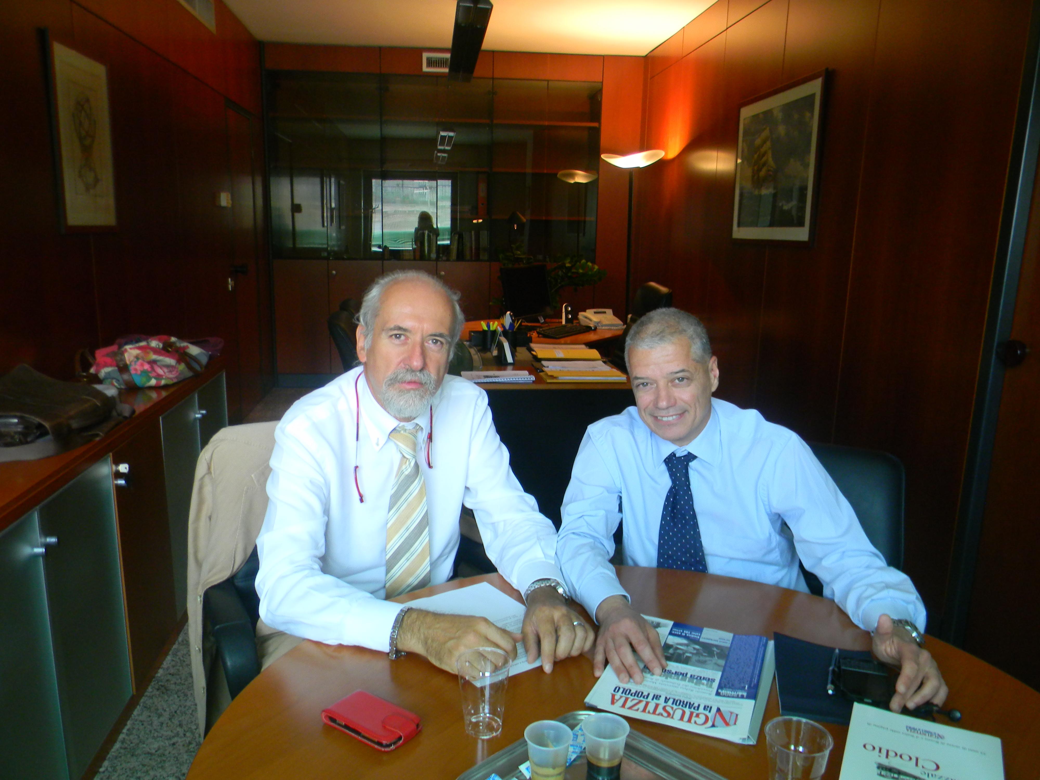 L'avv. Romolo Reboa con il Presidente di Cassa Forense, avv. Nunzio Luciano