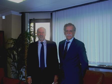 L'avv. Romolo Reboa ed il Presidente della Corte di Appello di Roma, Dott. Luciano Panzani