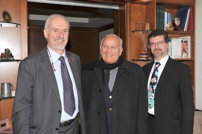 L'avv. Romolo Reboa con il regista Filippo Pegorari e Gianni Corto Dell'Aiuto