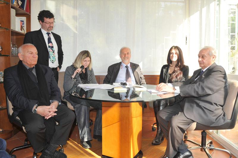 L'avv. Romolo Reboa con i relatori del convegno